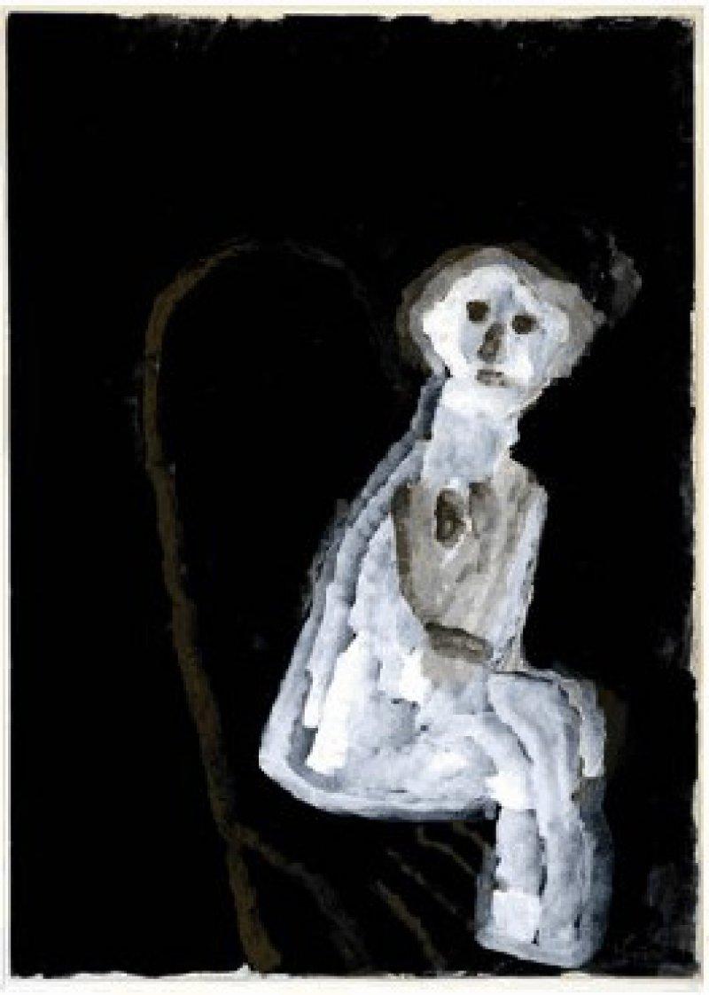 Geisterhafte Gestalt – Ophaus' Bild zeigt auf anrührende Weise eine Person in ängstlicher Erstarrung, einen Menschen, der Hilfe sucht. Foto: Eberhard Hahne