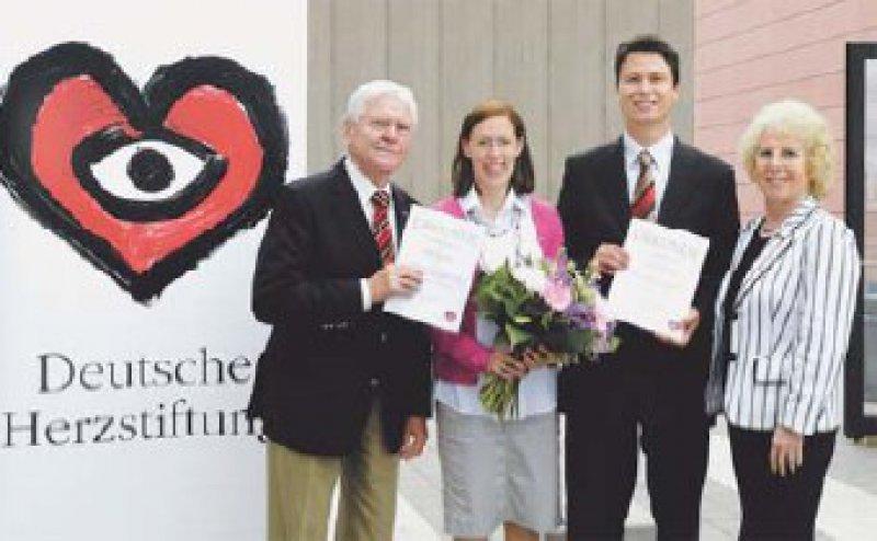 Wilhelm P. Winterstein, Wibke Hengstenberg, Benjamin Meder und Ursula Winterstein. Foto: Deutsche Herzstiftung