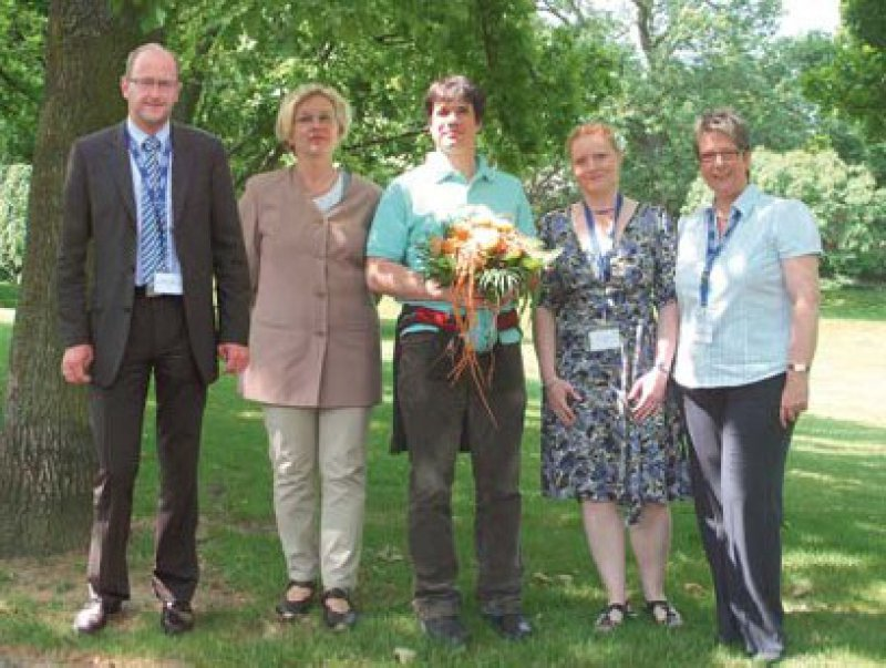 Daniel Laugner, Susanna Nikolaus, Jan Hendrik Niess, Tanja Kühbacher und Annet Blum, Foto: Ferring-Arzneimittel GmbH/Raimonda Vaitkute