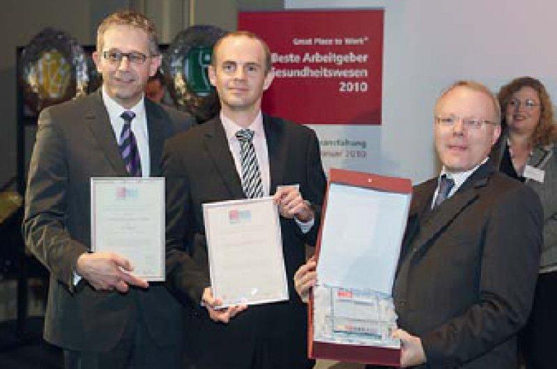 Gerd Hoofe, Gerrit Willamowski und Stephan Brandenburg (von links). Foto: Great Place to Work