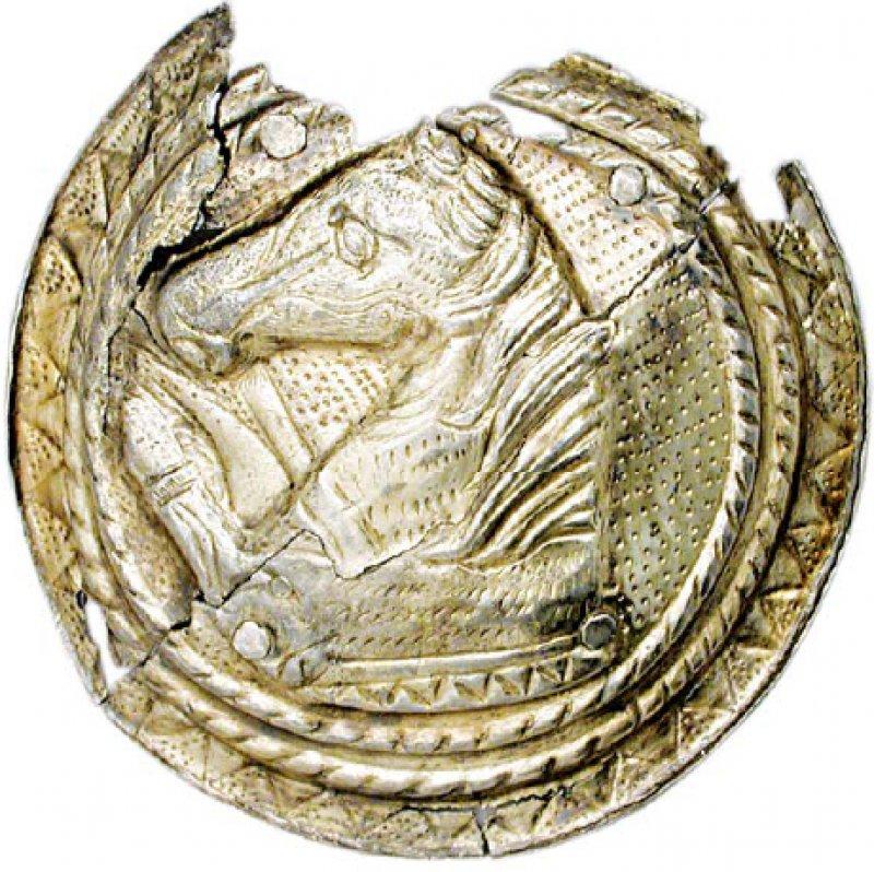 Die Phalere (Schnalle), feuervergoldet