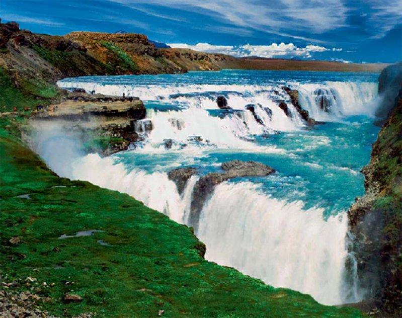 Der Gullfoss ist ein Wasserfall des Flusses Hvítá im Haukadalur im Süden Islands. Foto: Studiosus Gruppenreisen GmbH