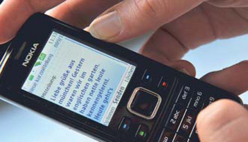 Der SMS-Service bietet auch Einsatzmöglichkeiten im Gesundheitsbereich. Foto: dpa
