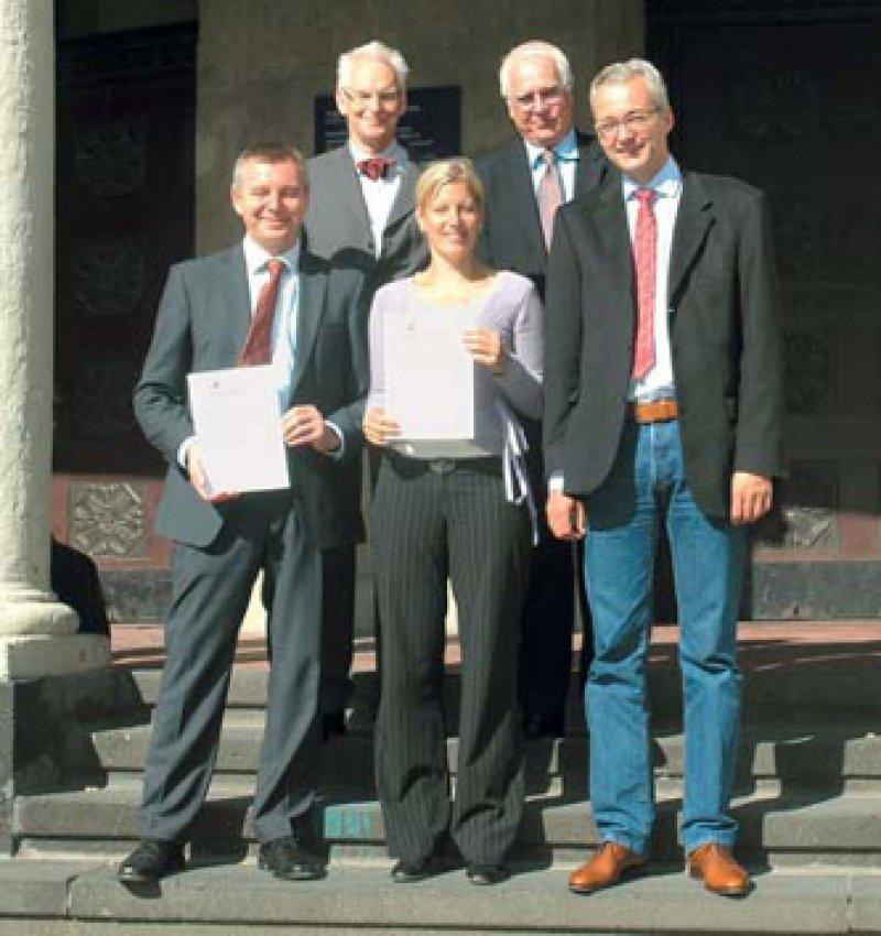 Martin Sack, Jörg Weidenhammer, Gitta Jacob, Birger Dulz und Stephan Doering (von links). Foto: J. Bonnet