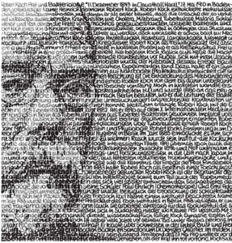 Auch dem Nobelpreisträger Robert Koch hat SAXA ein besonderes Denkmal gesetzt. Fotos: inundart