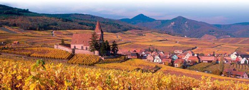 Postkartenidylle an der Elsässer Weinstraße: Hunawihr steht auf der Liste der schönsten Dörfer Frankreichs. Fotos: laif