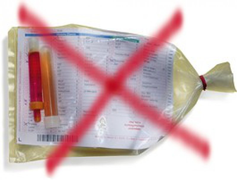 Gegen die Vorschriften: Die Sekundärverpackung ist nicht flüssigkeitsdicht und enthält kein saugfähiges Material