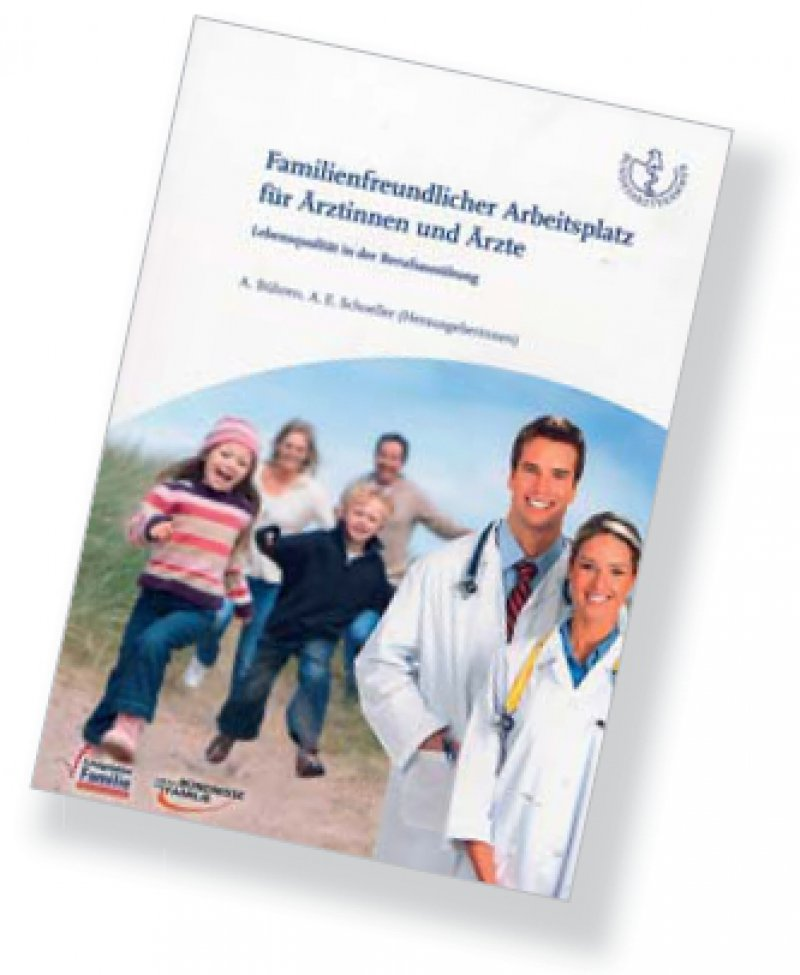 """Das Buch """"Familienfreundlicher Arbeitsplatz für Ärztinnen und Ärzte"""" kann kostenfrei über die Landesärztekammern bezogen werden."""