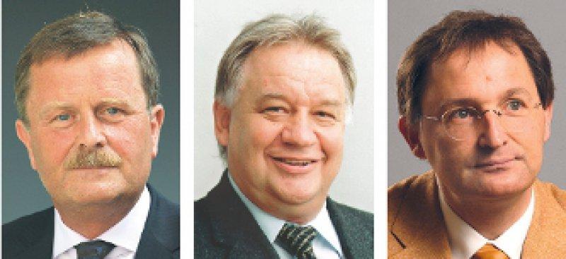 Wer wird Nachfolger von Jörg-Dietrich Hoppe? Frank Ulrich Montgomery, Theodor Windhorst oder Günther Jonitz (von links). Fotos: BÄK