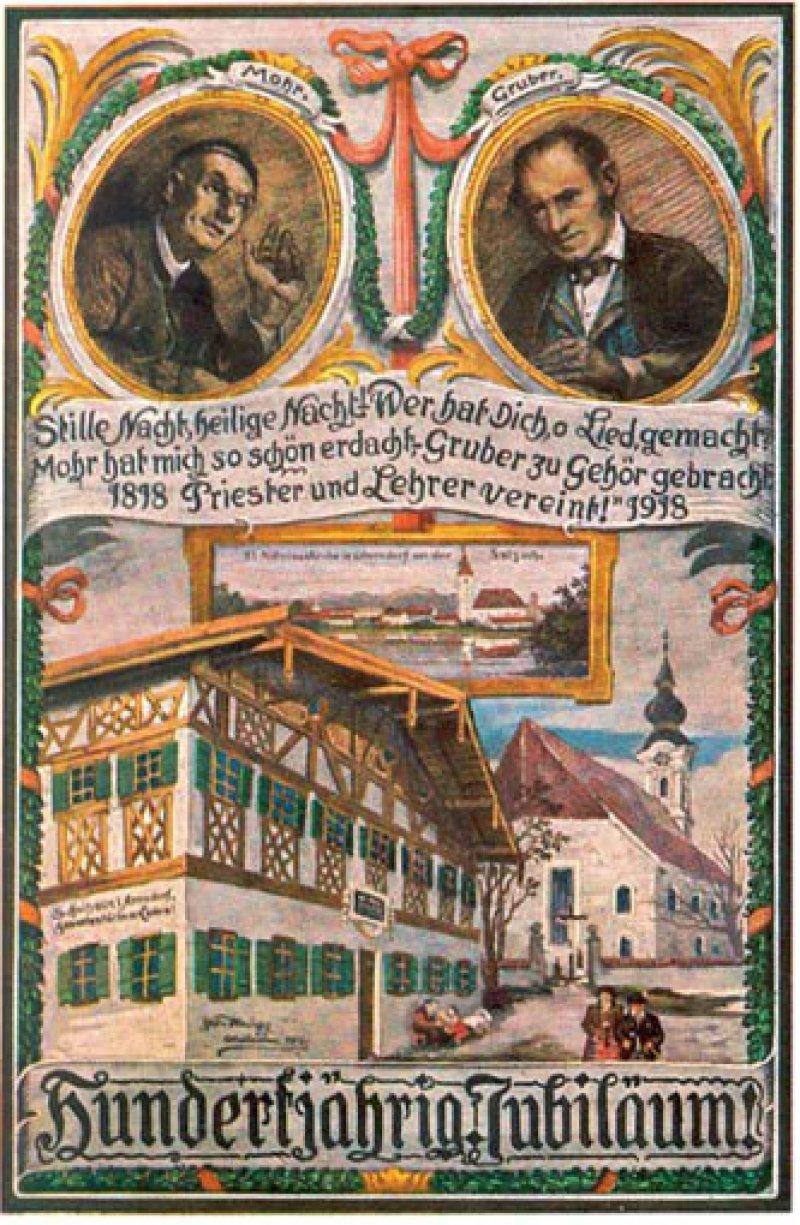 """Erfolgreiche Koproduktion: Das Gedicht """"Stille Nacht, Heilige Nacht"""" stammt vom Hilfspriester Joseph Moor, die Musik vom Lehrer Franz Gruber. Foto: Wikipedia"""