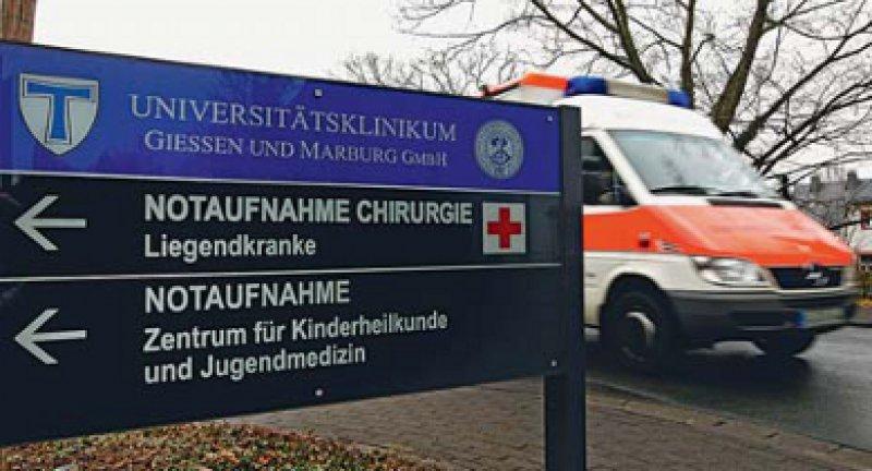 Das Uniklinikum Gießen und Marburg gehört derzeit zur privaten Klinikkette Rhön. Foto: dapd