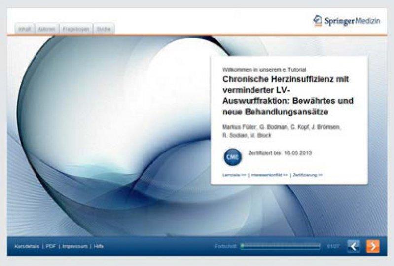 e.Akademie: cme-Fortbildungsplattform mit multimedialen Elementen