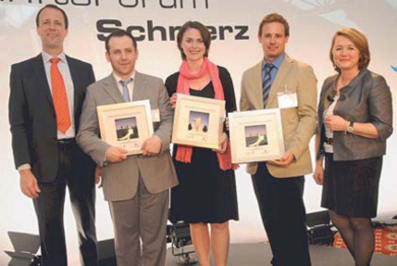 Stefan Grond, Yevgen Mikhlin, Christine Meyer-Frießem, Harald Rief und Antonie Wimmer (von links). Foto: Janssen-Cilag GmbH