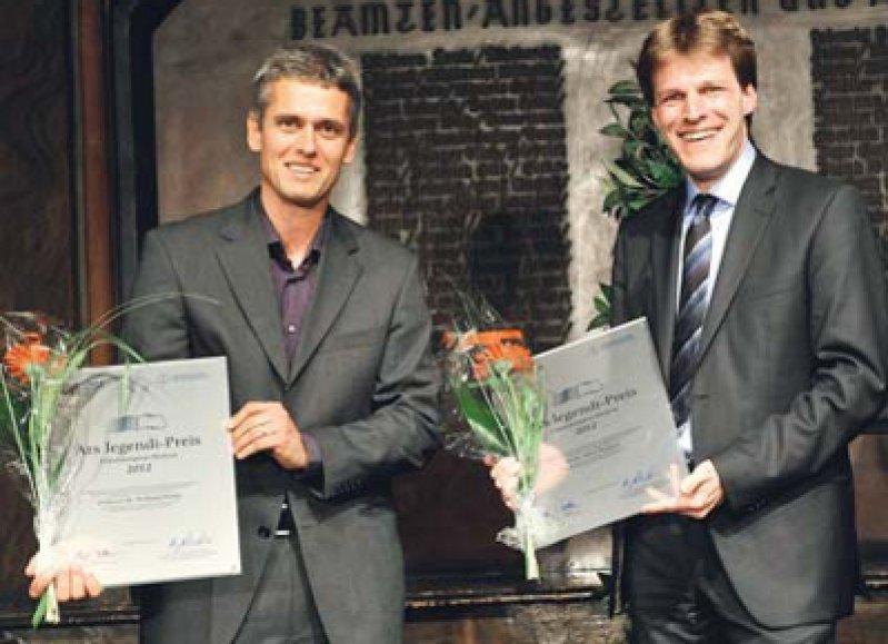 Wolfgang Hampe und Tobias Raupach (von links), Foto: MFT/Regina Sablotny