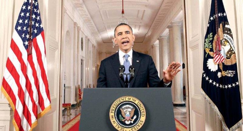 Erleichterung nach der Entscheidung: US-Präsident Barack Obama äußert sich zum Urteil des Supreme Court. Fotos: dapd