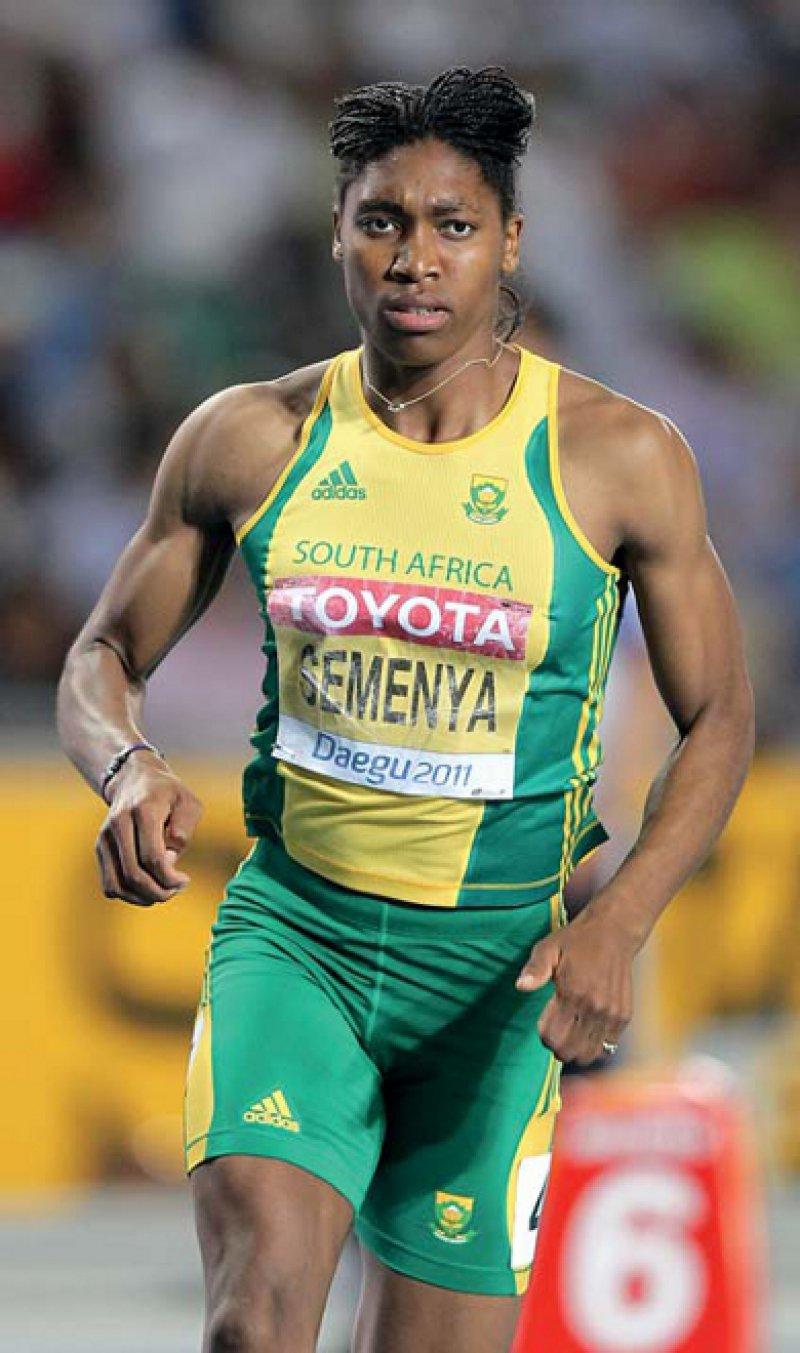 """""""Intersexuell"""": Der Leichtathletik- Weltverband sperrte Semenya bis zum Abschluss von Tests und Behandlungen fast ein Jahr. Foto: picture alliance"""