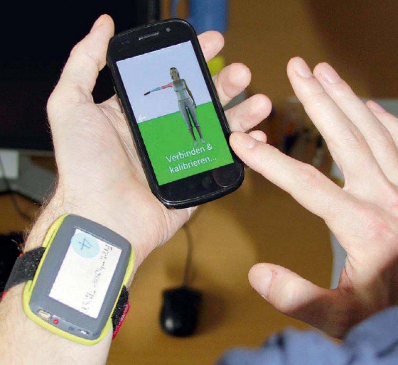 Prototyp der mobilen App von My-Rehab, einem Trainings- und Therapiesystem für die Rehabilitation. Foto: Fraunhofer FOKUS, Adlershof
