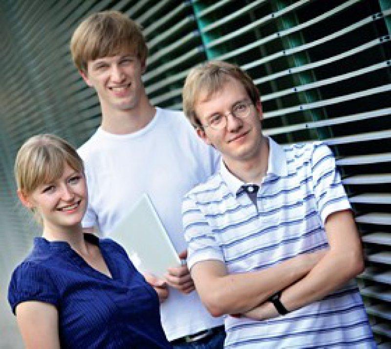 Sie hatten die zündende Idee: die Dresdener Medizinstudenten Anja Kersten und Johannes Bittner gemeinsam mit dem Informatiker Ansgar Jonietz aus Trier