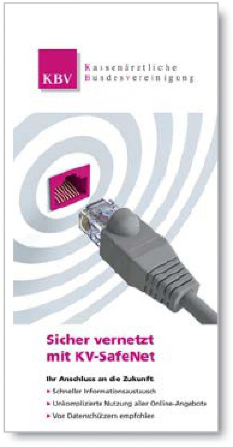 Den Flyer kann man sich unter www.kv-safenet.de herunterladen.