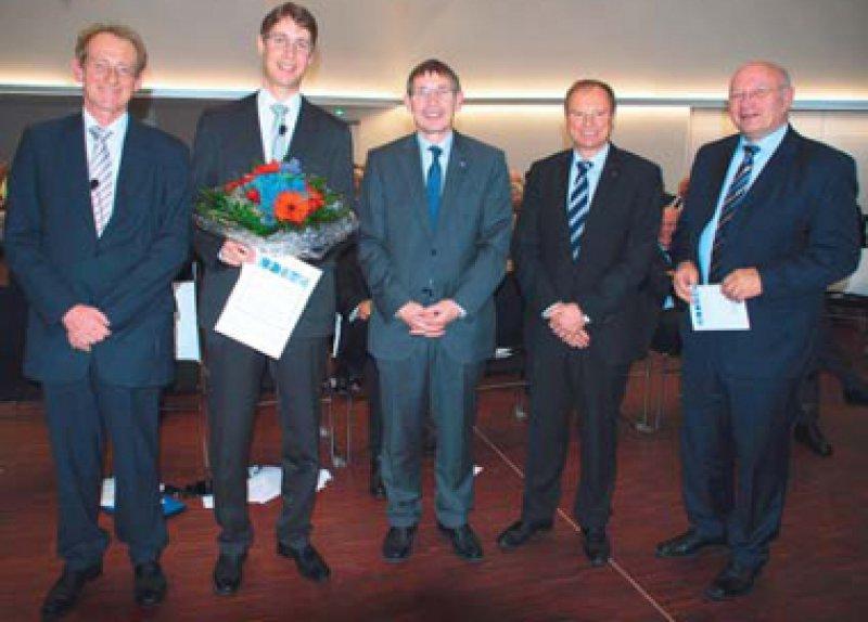 Erhard Schmidt, David Vöhringer, Klaus Cichutek, Manfred Pusdrowski und Frieder Gebhardt (von links). Foto: Paul-Ehrlich-Institut