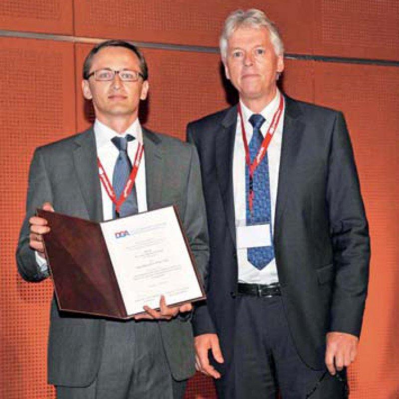 Michael Czihal und Ulrich Hoffmann (von links), Foto: Thomas Böhm/DGA