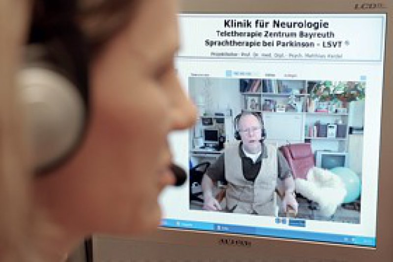 Sprachtherapie als telemedizinische Anwendung für Parkinsonpatienten. Foto: dpa
