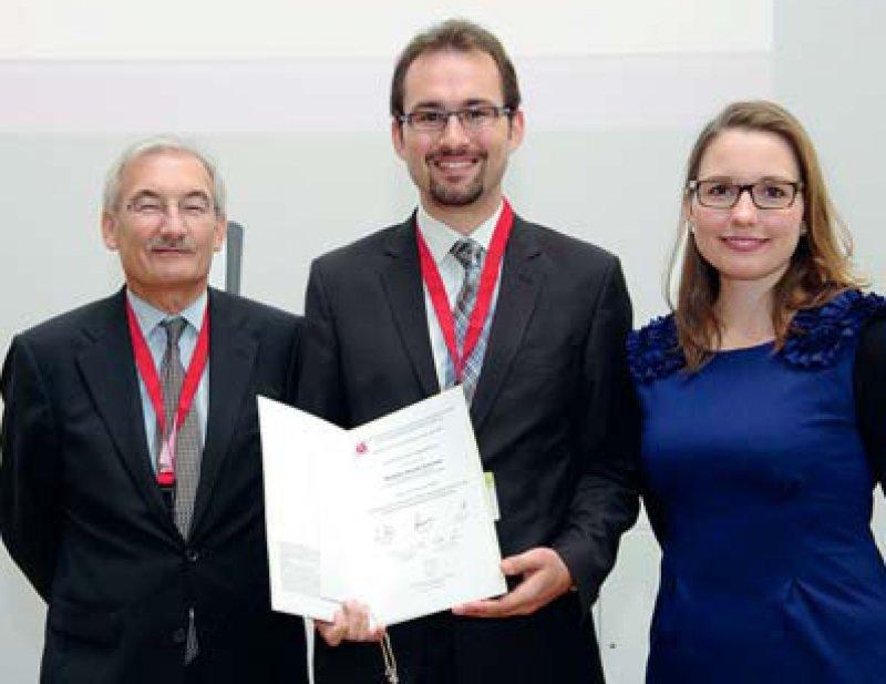 Georg Ertl, Achim Degen und Katharina Wolff (von links), Foto: DGK/Thomas Hauss