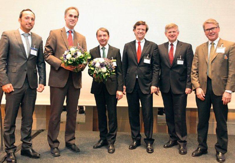 Daniel Kalanovic, Martin Fassnacht, Frank Neipel, Ulrich Graeven, Andreas Hochhaus und Bertram Wiedenmann (von links) Foto: AIO in der DKG