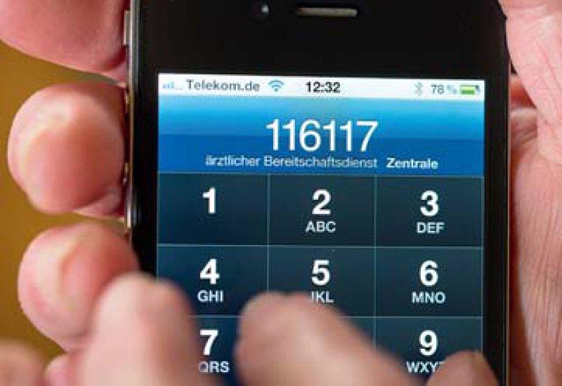 Leicht zu merken: Die Nummer 116117 wird von vielen Patienten genutzt. Foto: dpa