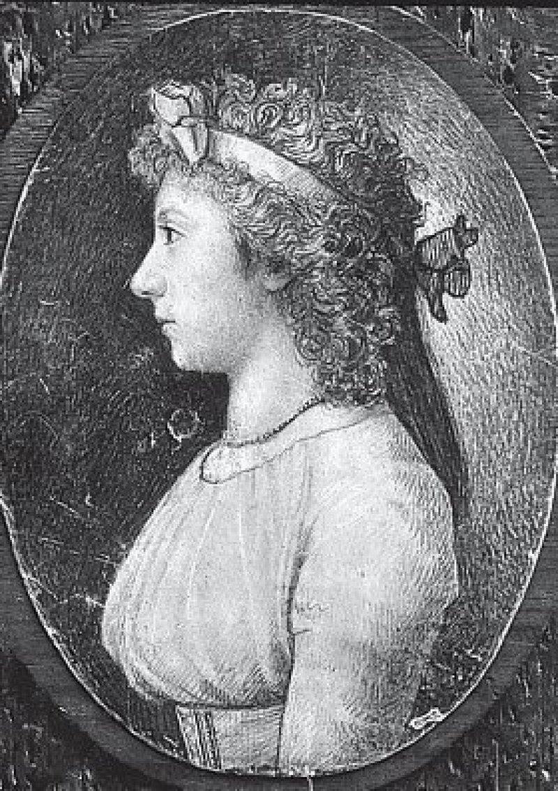 Friederike Brion – Silberstiftzeichnung von Johann Wilhelm Tischbein (1750–1812). Foto: picture alliance