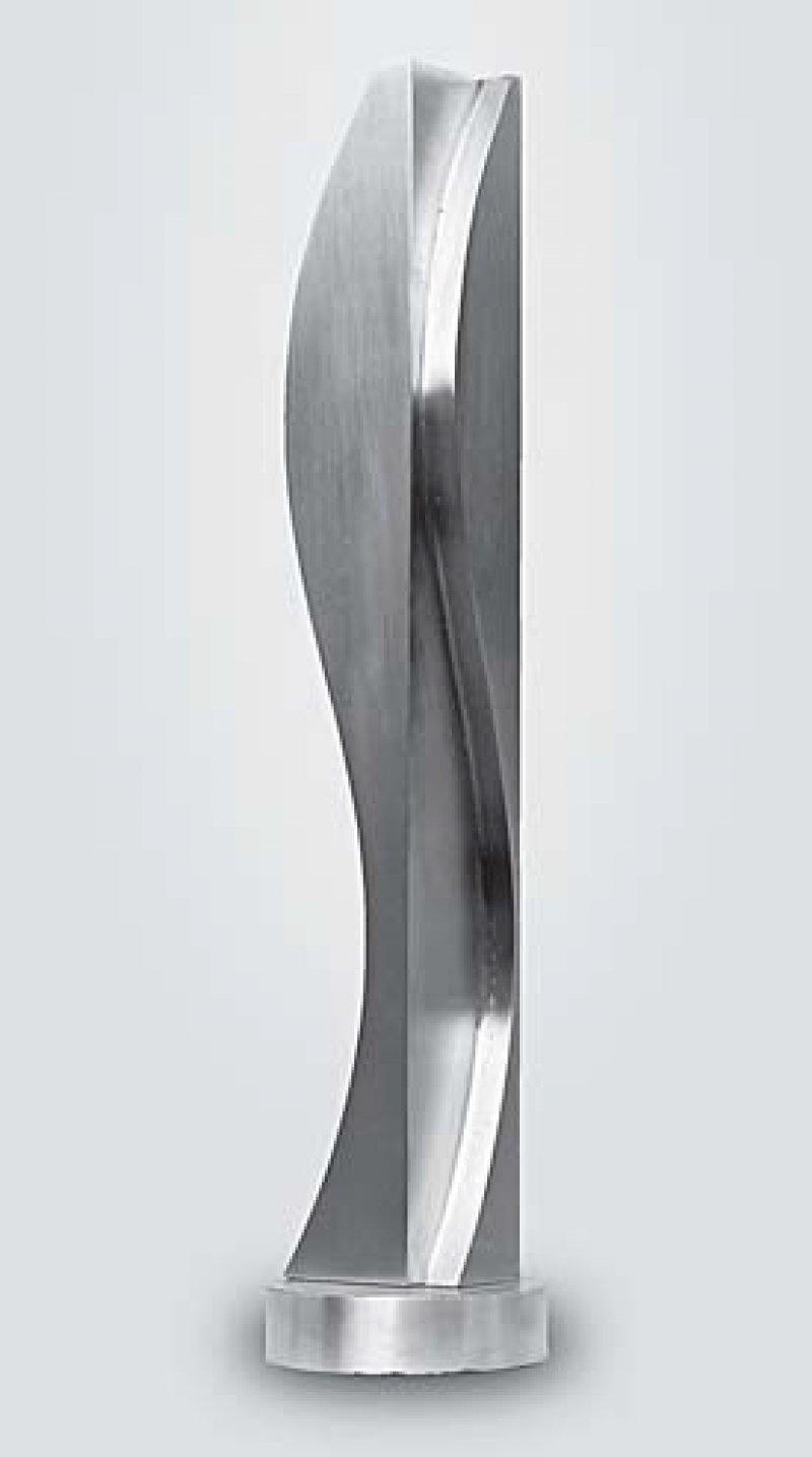 János Fajó: Wavebody with Parallel VII, 1993, Bronze, Höhe = 43 cm
