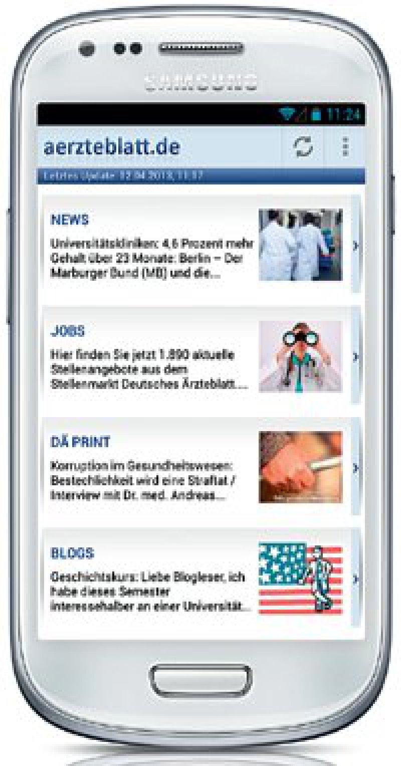Die Ärzteblatt-App gibt es jetzt auch für Android-Handys.
