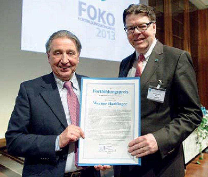 Werner Harlfinger und Christian Albring (von links), Foto: Adrian Bedoy/FBA 2013 
