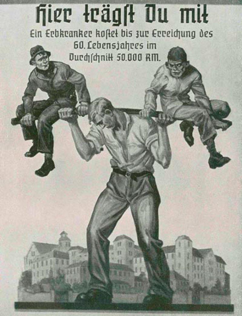 """NS-Propaganda im Jahr 1940: Auch die Gesundheitsämter waren in die """"Rassenhygiene"""" eingebunden. Sie mussten Erbkranke und """"Asoziale"""" erfassen"""
