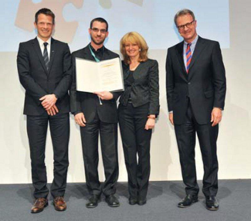 Jürgen-Heiko Borwieck, Patrick Schramm, Gabriele Nöldge- Schomburg, und Christian Werner (von links). Foto: Bischof & Broel/DAC 2013
