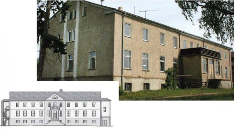 Bei der Restaurierung soll die neoklassizistische Fassade, die das ursprünglich 1862 im neugotischen Stil erbaute Gutshaus 1939 erhielt, wiederhergestellt werden. Fotos: Gutshaus Alt Rehse gGmbH