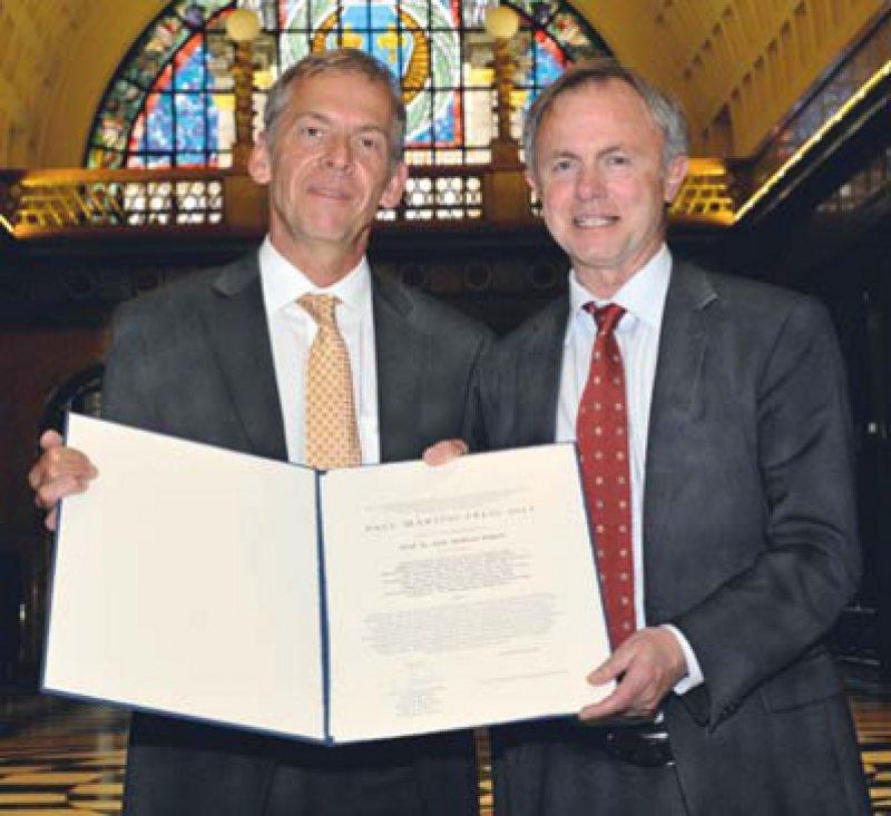 Andreas Engert und Stefan Endres (von links), Foto: Paul-Martini-Stiftung