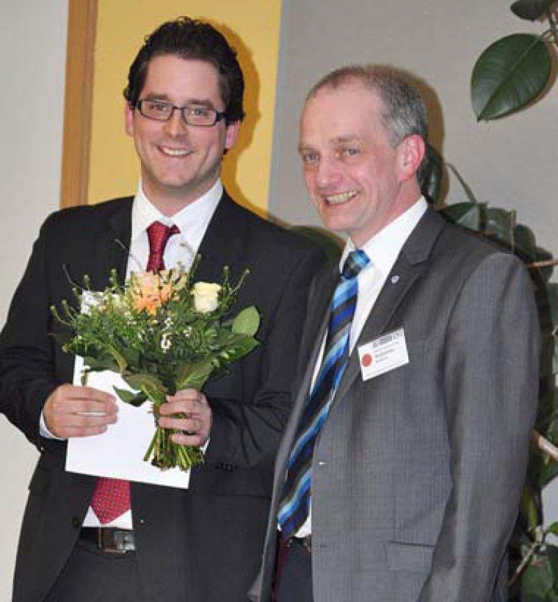 Michael Schmeißer und Hermann-Josef Rothkötter (von links). Foto: Karin Fischer, Institut für Anatomie, Magdeburg