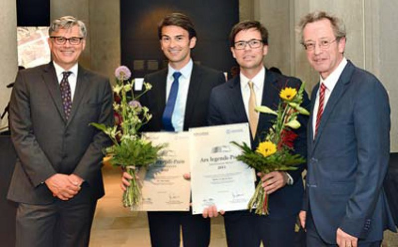 Volker Meyer-Guckel, Saša Sopka, Stefan Beckers und Josef Pfeilschifter (von links). Foto: MFT