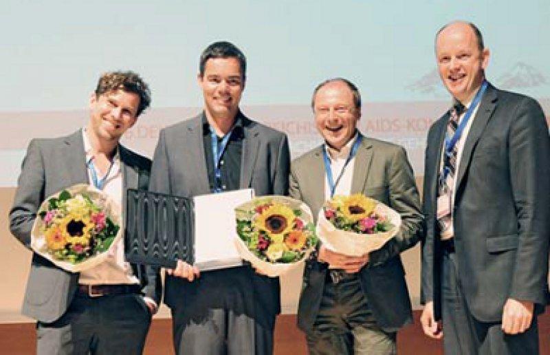 Christoph Wyen, Christian Hoffmann, Markus Hentrich und Georg Behrens (von links), Foto: Annette Haberl