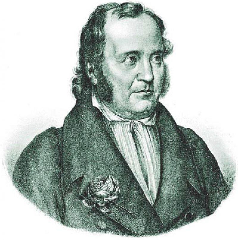 """Der deutsche Schriftsteller Jean Paul, eigentlich Johann Paul Friedrich Richter, steht zwischen Klassik und Romantik. Seine Bewunderung für Jean-Jacques Rousseau führte zur Namensänderung. Zu den bekannten Werken zählen: """"Siebenkäs"""", """"Das Leben des Quintus Fixlein"""", """"Flegeljahre"""". Foto: dpa"""