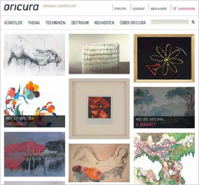 Arbeiten aus verschiedenen Epochen werden auf der Website vorgestellt.