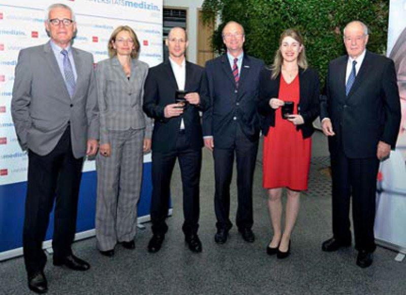 Peter Geipel, Claudia Walter, Nir Yogev, Ulrich Förstermann, Iris Reiner und Otto Boehringer (von links), Foto: Uwe Feuerbach