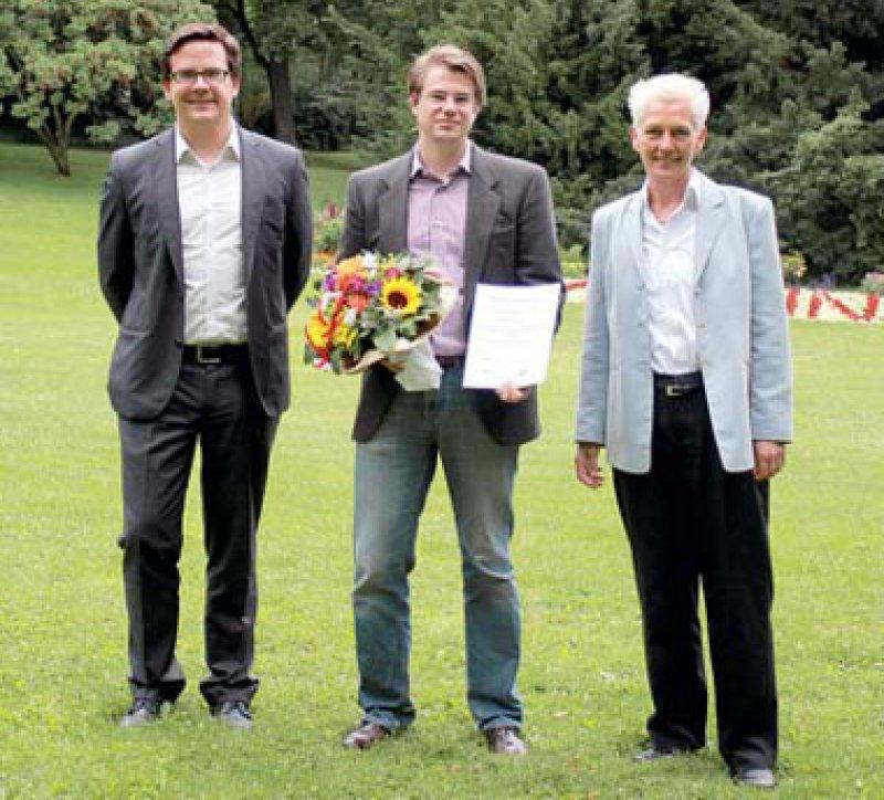 Oliver Bachmann, Samuel Markus Huber und Birgitta Reimers (von links), Foto: Ferring Arzneimittel GmbH