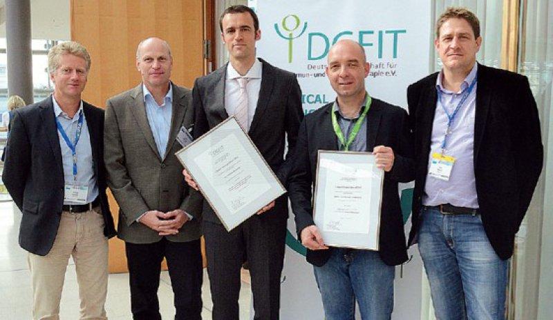 Michael Siebels, Hans Heinzer, Stephan Metzelder, Djordje Atanackovic und Axel Hegele (von links). Foto: DGFIT