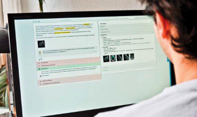 """Mehr als 5 000 Fragen mit jeweils fünf Kommentaren sowie über 700 Lernkarten mit prüfungs relevantem Wissen umfasst die Software """"Amboss"""". Foto: miamed GmbH"""