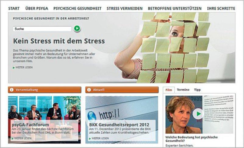 Viele Arbeitsunfähigkeitszeiten sind psychisch bedingt. Die Website psyga.info bietet Unterstützung für den Arbeits alltag.