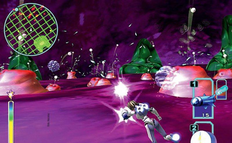 """Oben: Im 3-DShooter- Spiel """"Re-Mission"""" schießen krebskranke Kinder und Jugendliche mit Medikamenten böse Krebszellen ab. Links: Bewegungstherapie mit einem robotischen Arm-Exoskelett und virtueller Übungsumgebung"""