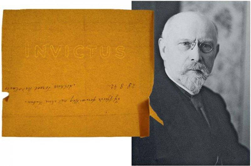 Versteckte Botschaft in Arthur Nicolaiers Abschiedsbrief. Foto links: Erika Wagner, Foto rechts: Familie Blumenthal