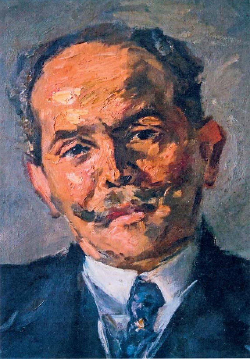 Max Slevogt (attr.), Prof. Dr. Paul Glaessner, circa 1910 (Öl auf Leinwand)